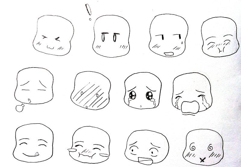 Cara menggambar chibi manga - MAYAGAMI
