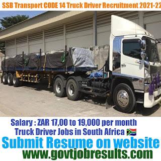 SSB Transport CODE 14 Truck Driver Recruitment 2021-22