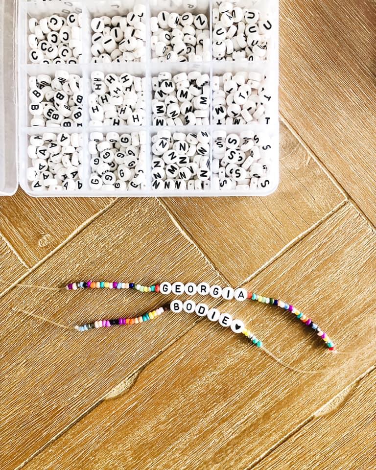 Easy DIY:  Name Bracelets