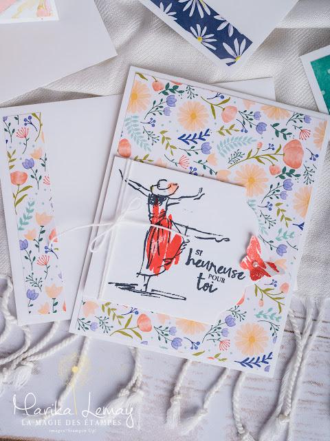 Ensemble de cartes avec le jeu Resplendissante Stampin' Up!
