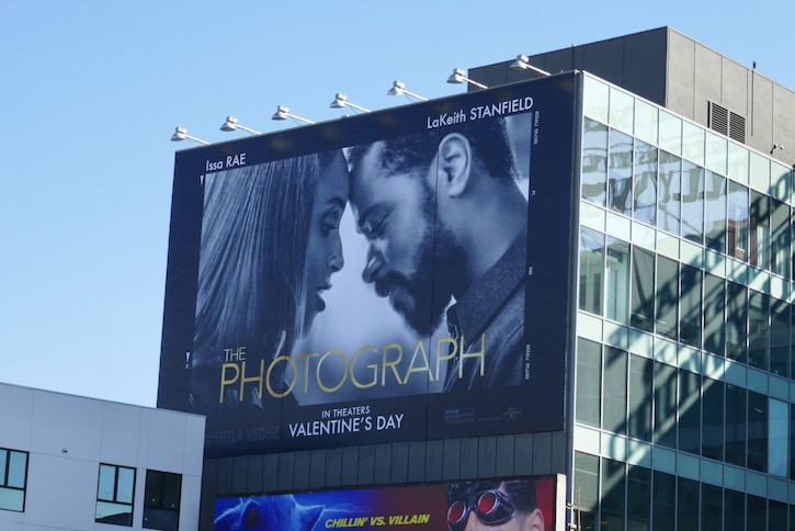 Photograph giant film billboard