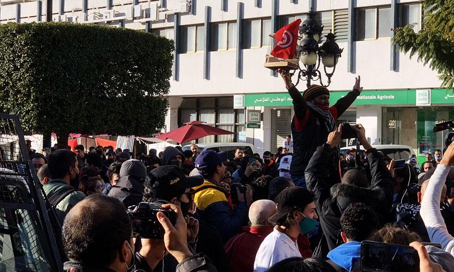 Tunisie: Manifestation à l'avenue Habib Bourguiba