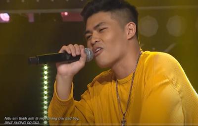 Thí sinh 'Rap Việt'. Ảnh chụp màn hình.