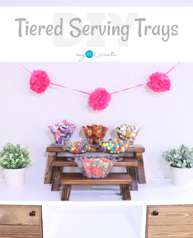 Impress your guests and make your own DIY Tiered Serving Trays, MyLove2Create