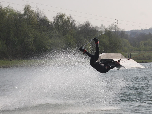 Action photography -  water skiers