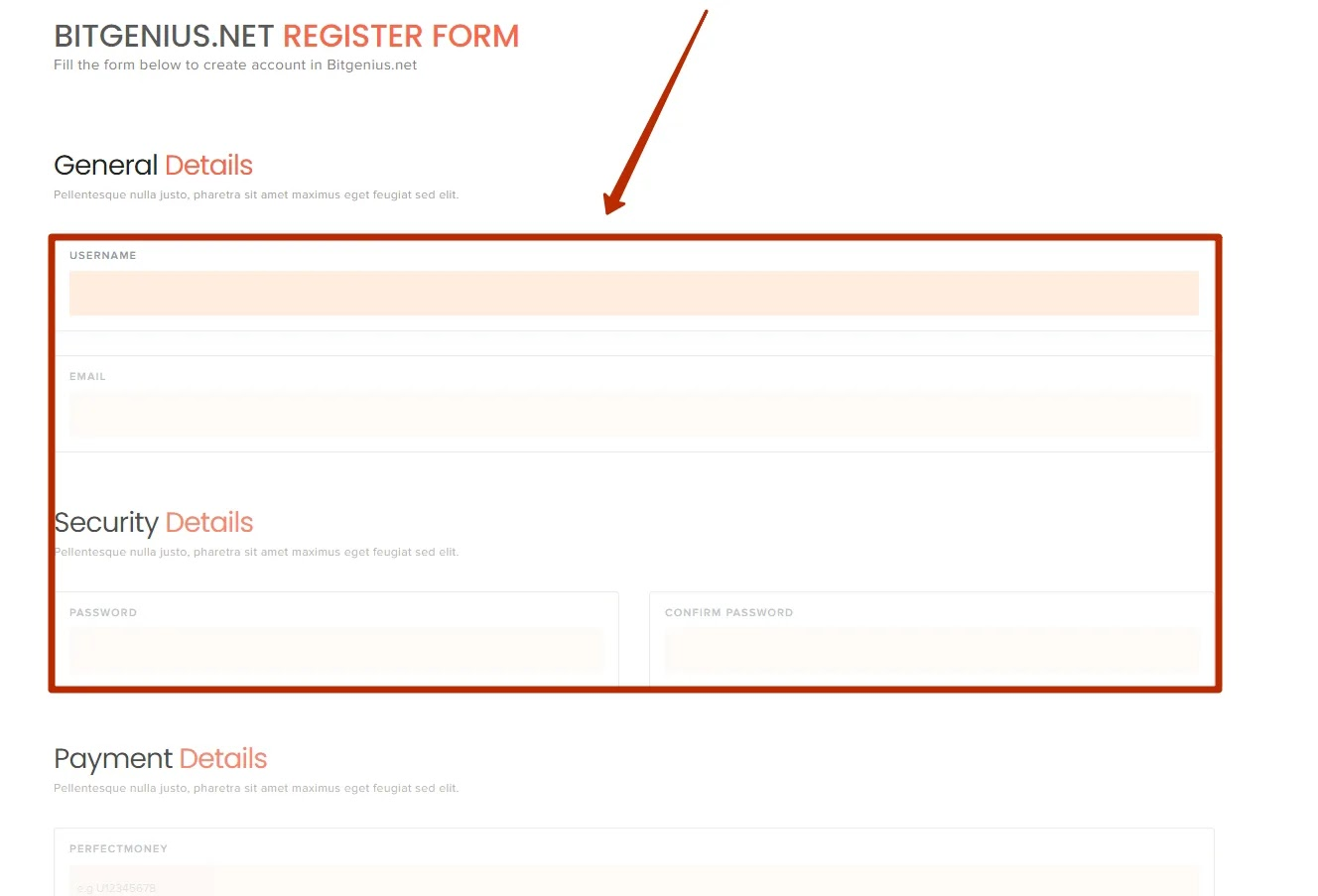 Регистрация в BitGenius 2
