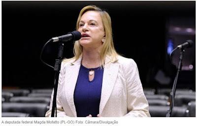Deputada que tripudiou pra cima de Daniel é uma condenada na Justiça de Goiás por crime de improbidade e roubo de  palm tops