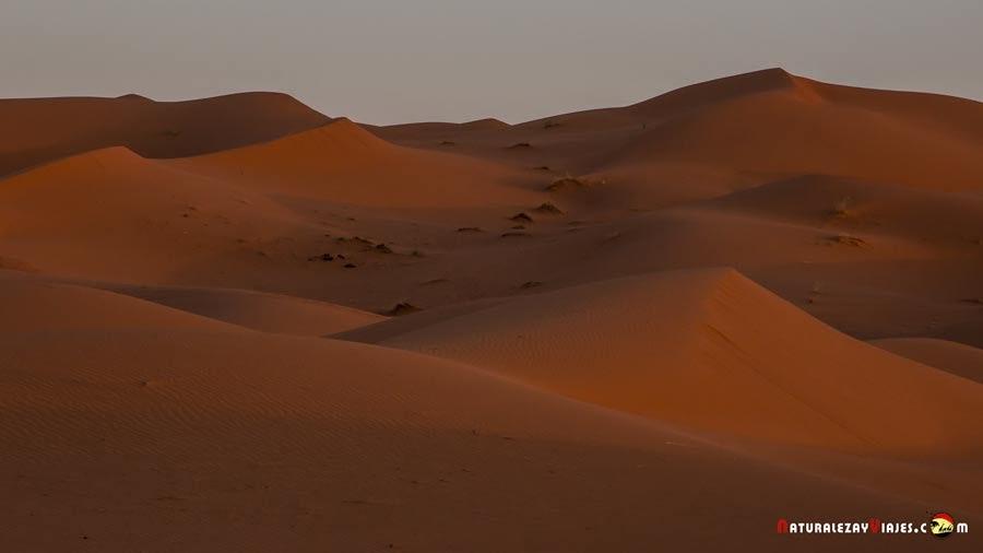 Amanecer en las dunas de Erg Chebbi, Merzouga, Marruecos