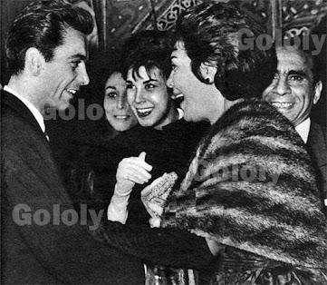 Tahya Karioka with Ragaa Soheir El-Bably and Saeed Abu Baker with  footballer Saleh Salim.