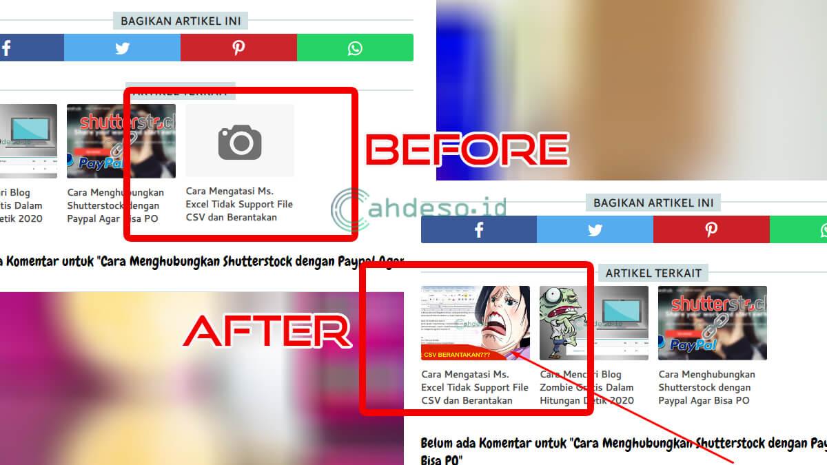Cara Mengatasi Thumbnail Related Post Tidak Muncul