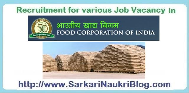 Naukri Vacancy Recruitment FCI