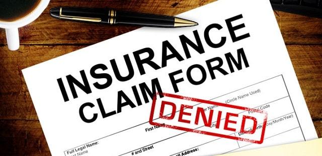 denied insurance claim rejection