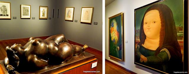 """Obras de Fernando Botero: """"Venus"""" e """"Mona Lisa"""", Museu Botero, Bogotá"""