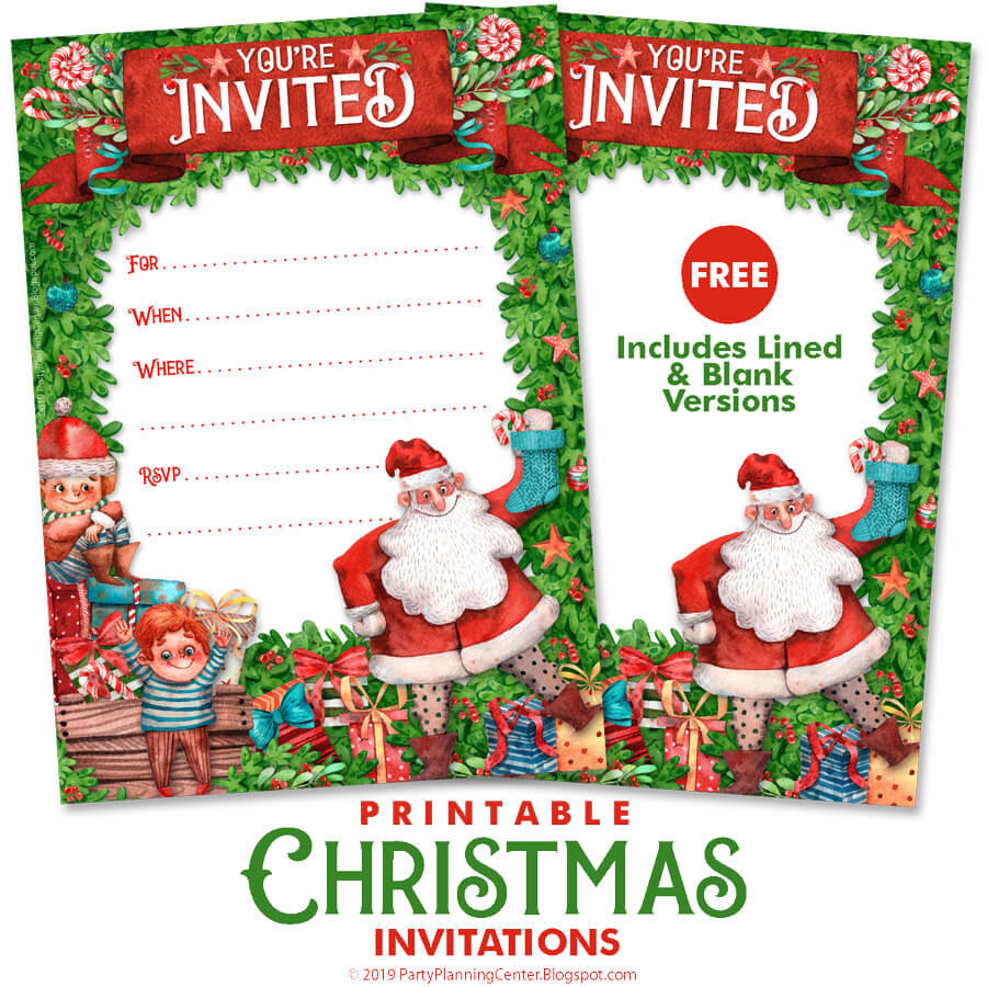 Party Planning Free Christmas Party Invitation Templates