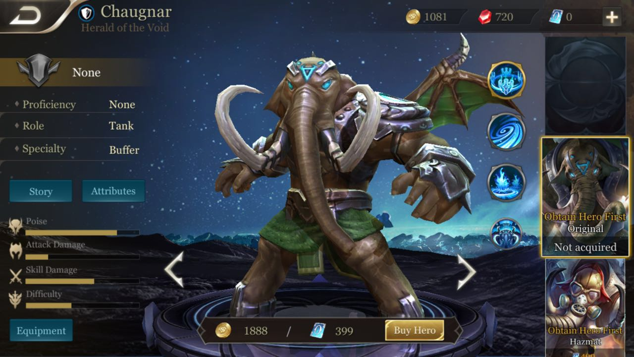 Hero Spotlight: Chaugnar, Herald of the Void