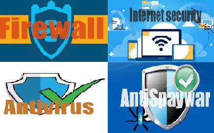 الفرق بين برامج الحماية Antivirus / Internet security / Firewall / AntiSpaywar