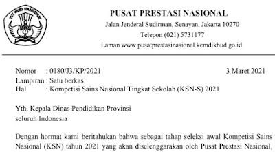 Pemberitahuan KSN S Disdik Provinsi Pdf