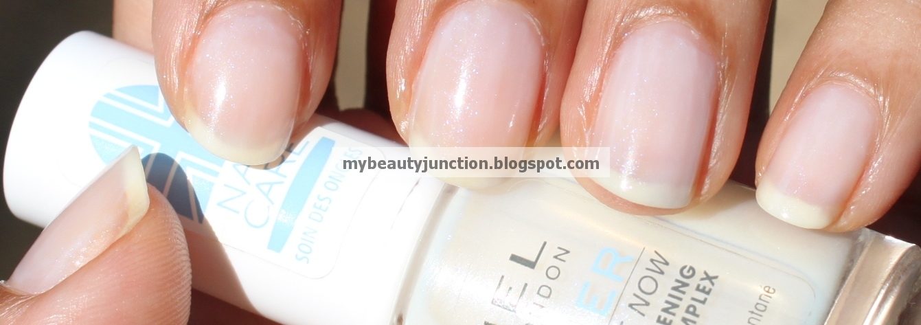 Swatch and review of Rimmel All White Now base coat