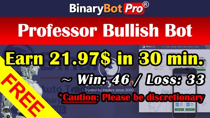 Professor Bullish Bot (15-Sep-2020) | Binary Bot | Free Download