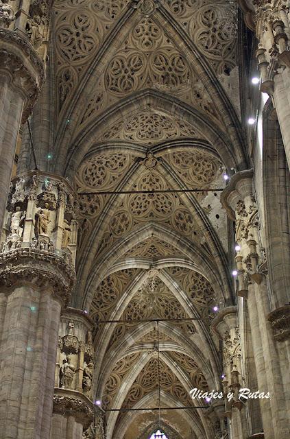 Pinturas del techo de la catedral de Milán