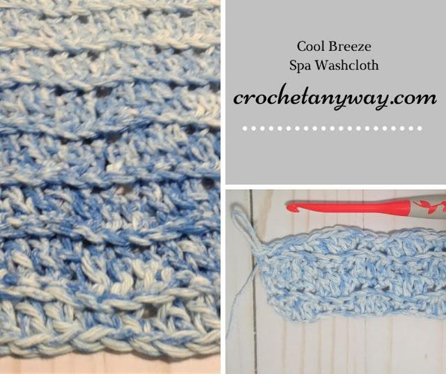 wavy crochet washcloth