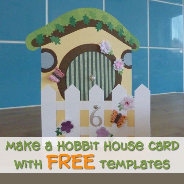 Make Your Own DIY Hobbit House Card With FREE Template Printables at CraftyMarie