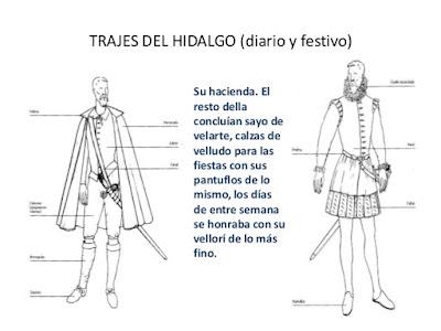 prendas de vestir de Don Quijote