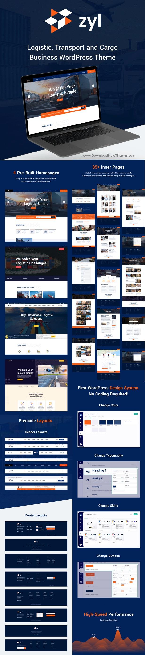 zyl - Transportation Logistics WordPress Theme