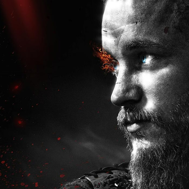Ragnar Lothbrok Black Theme Wallpaper Engine