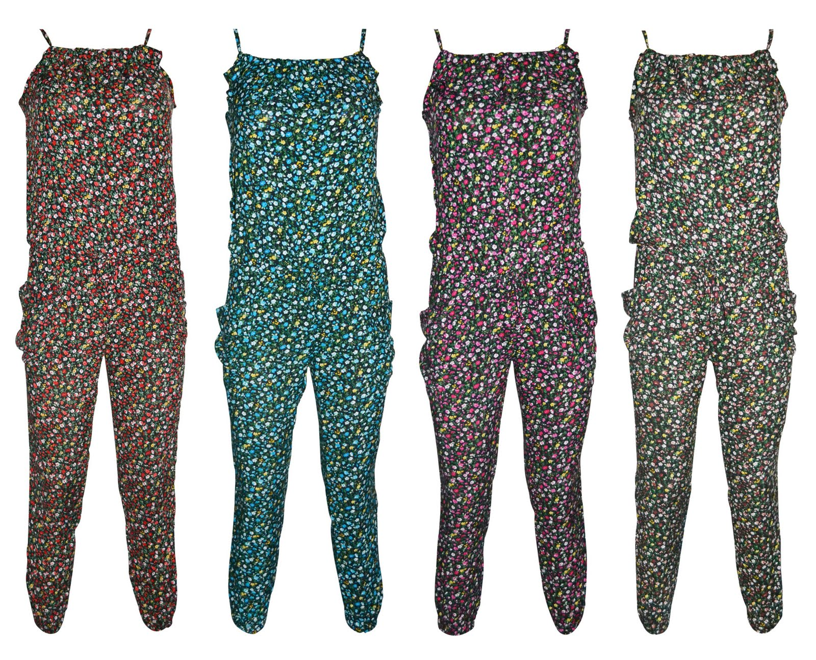 7fa9f0f8813e Women s Playsuit Ditsy Flower Ladies Jumpsuit Trouser - Women s ditsy  flower print playsuit available in a 4 amazing summer colours - green