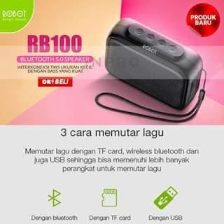 Robot RB100 Dots Speaker Bluetooth 5 0 Robot RB100 Dots Rich Bass