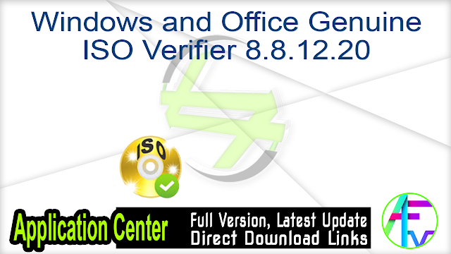 Windows and Office Genuine ISO Verifier 8.8.12.20