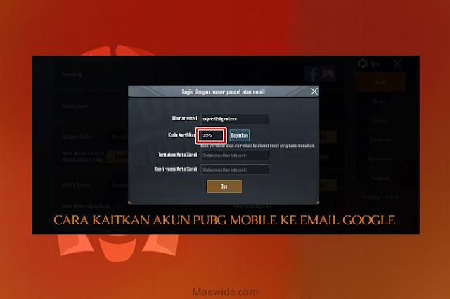 cara kaitkan akun pubg mobile ke email google