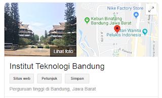 Peluang masuk snmptn Institut Teknologi Bandung 2020/2021 {SNMPTN ITB}