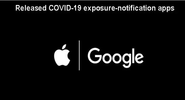 Apple Google release COVID-19 exposure-notification apps