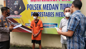Pencuri di Ruang Isolasi Covid RSU Pirngadi Ditangkap Polsek Medan Timur