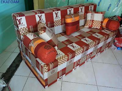 Sofa bed inoac motif new elve coklat