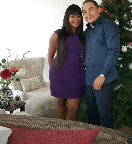 Freeze and girlfriend Benedicta Elechi strike adorable pose
