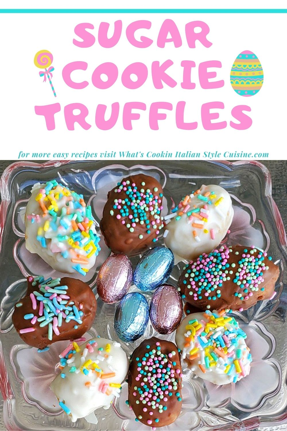 this is how to make a sugar cookie truffle pin for later using a cookie mix instructional recipe
