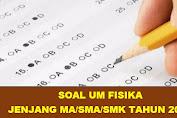 Download Soal UM FISIKA Jenjang MA Tahun 2021