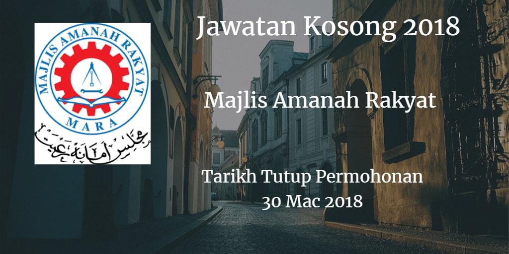 Jawatan Kosong MARA 30 Mac 2018