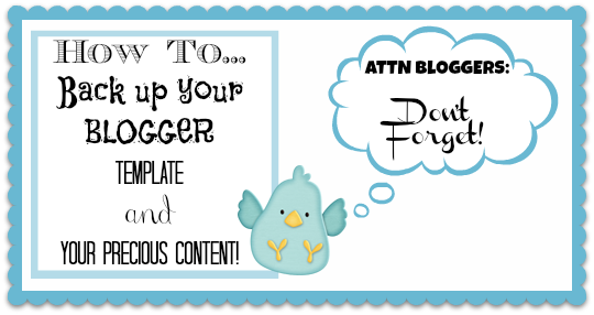 How to Back Up Blogger Blog