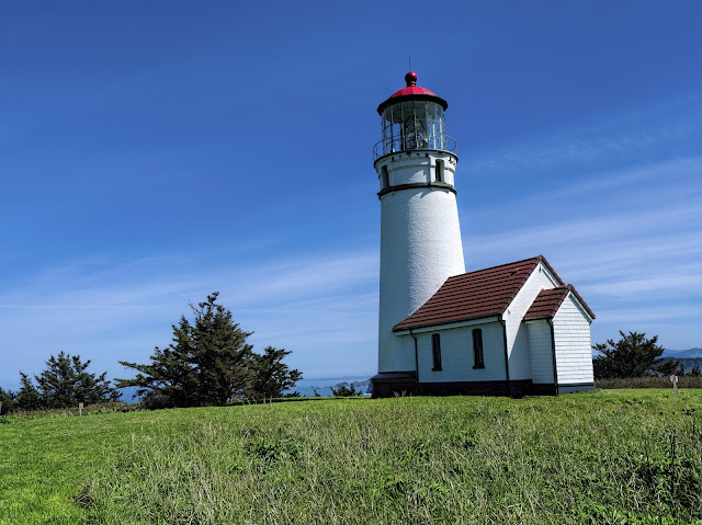 The lighthouse at Cape Blanco, OR