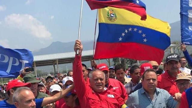 """Diosdado: """"Levanten el bloqueo, los venezolanos no somos limosneros"""" (+Tienditas es de Venezuela, no binacional)"""