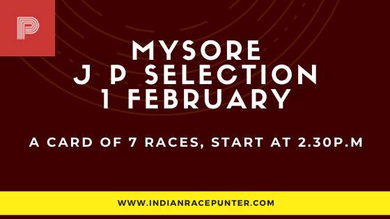 Mysore Jackpot Selections 1 February