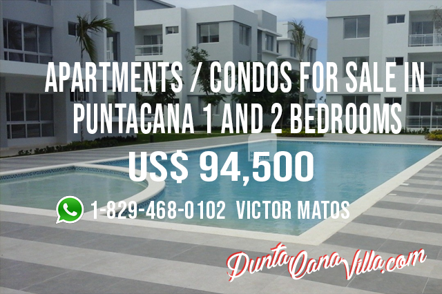 Apartments / Condos for Sale in Punta Cana 1 and 2 bedrooms