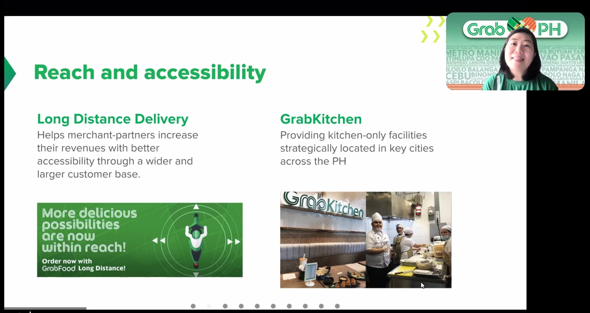 Grab Long Distance Delivery and GrabKitchen
