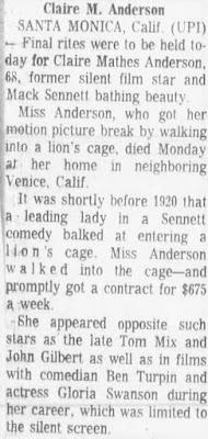 Claire Anderson Dead