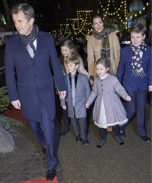 Crown Prince Frederik, Crown Princess Mary, Princess Isabella, Prince Vincent, Princess Josephine, Prince Christian, Countess Alerxandra, Prince Felix and Prince Henrik, Princess Mary wore Prada Dress, Gianvito Rossi Pumps and By Malene Birger Coat, Princess Josephine wore MARIE-CHANTAL Girls Grey Coat, Princess Isabella wore BONPOINT Beige Coat