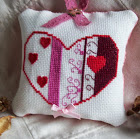 HEARTS AND SWIRLS CROSS STITCH